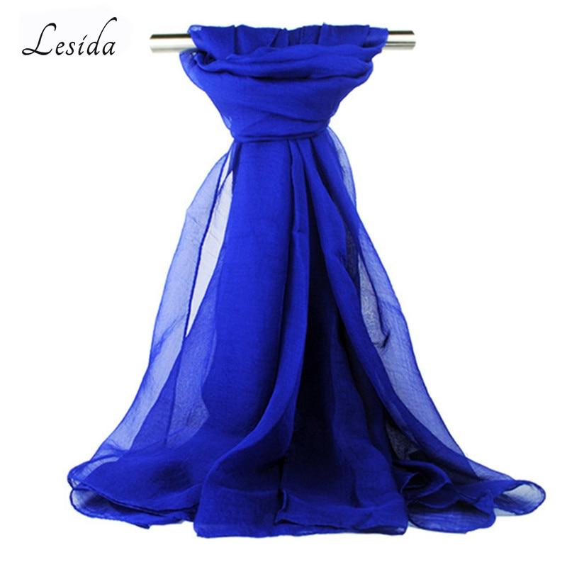 LESIDA Szyfonowe szale damskie Szale plażowe Ecahrpes Femme Bufandas Mujer Damski jednolity kolor cienki szal Luksusowa marka 150 * 120 cm 4078