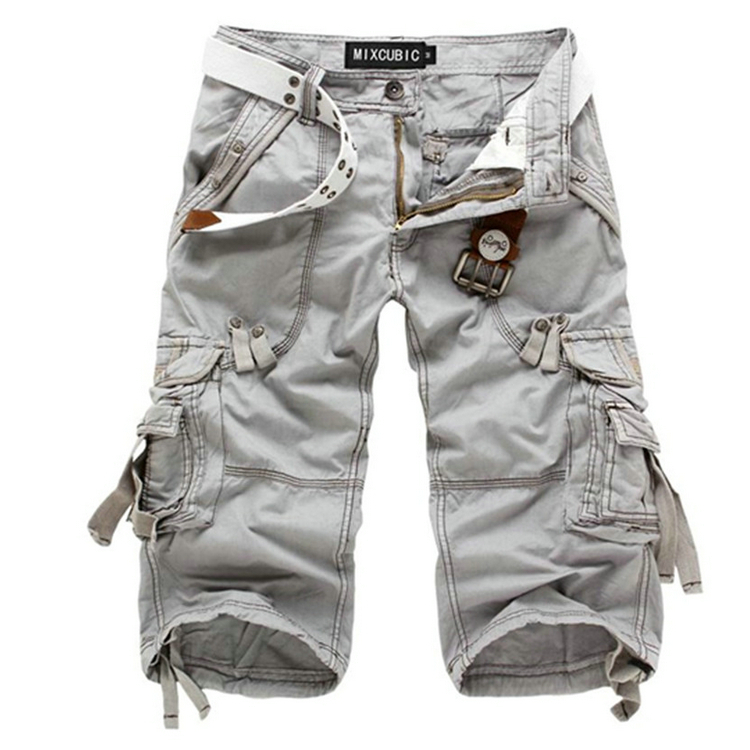 NWT Men's Casual Cargo Shorts Capri Multi Pocket Military Style ...