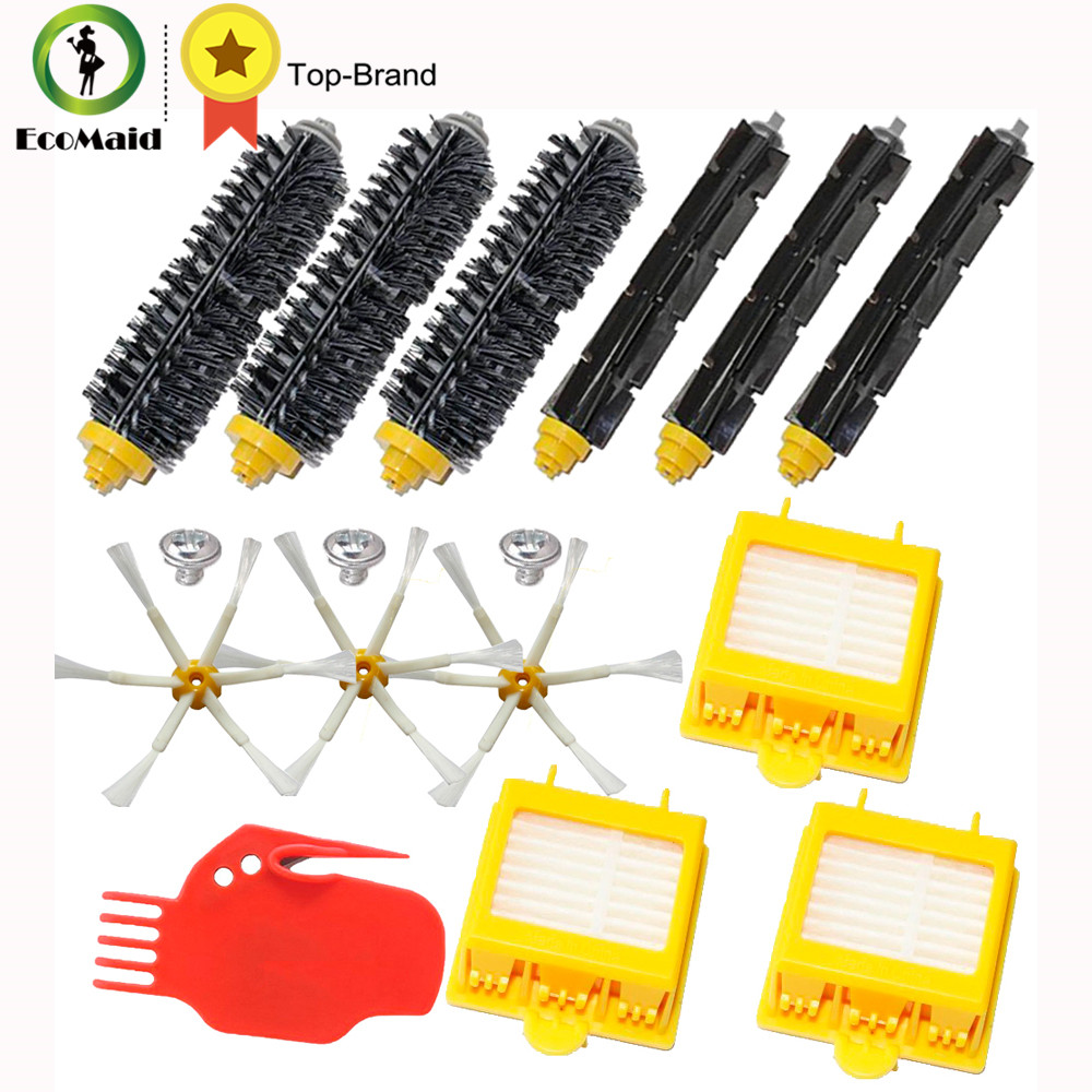 купить Accessory For iRobot Roomba 700 Series Hepa Filters Bristle Brushes Flexible Beater Brushes 6-Armed Side Brush Screw Clean Tool дешево