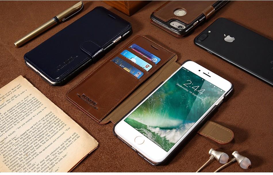 Floveme vintage klapki skóra case dla iphone 7 6 6 s pokrywa z karty uchwyt luksusowe wallet case for iphone 7 7 plus 6 6 s plus capa 5