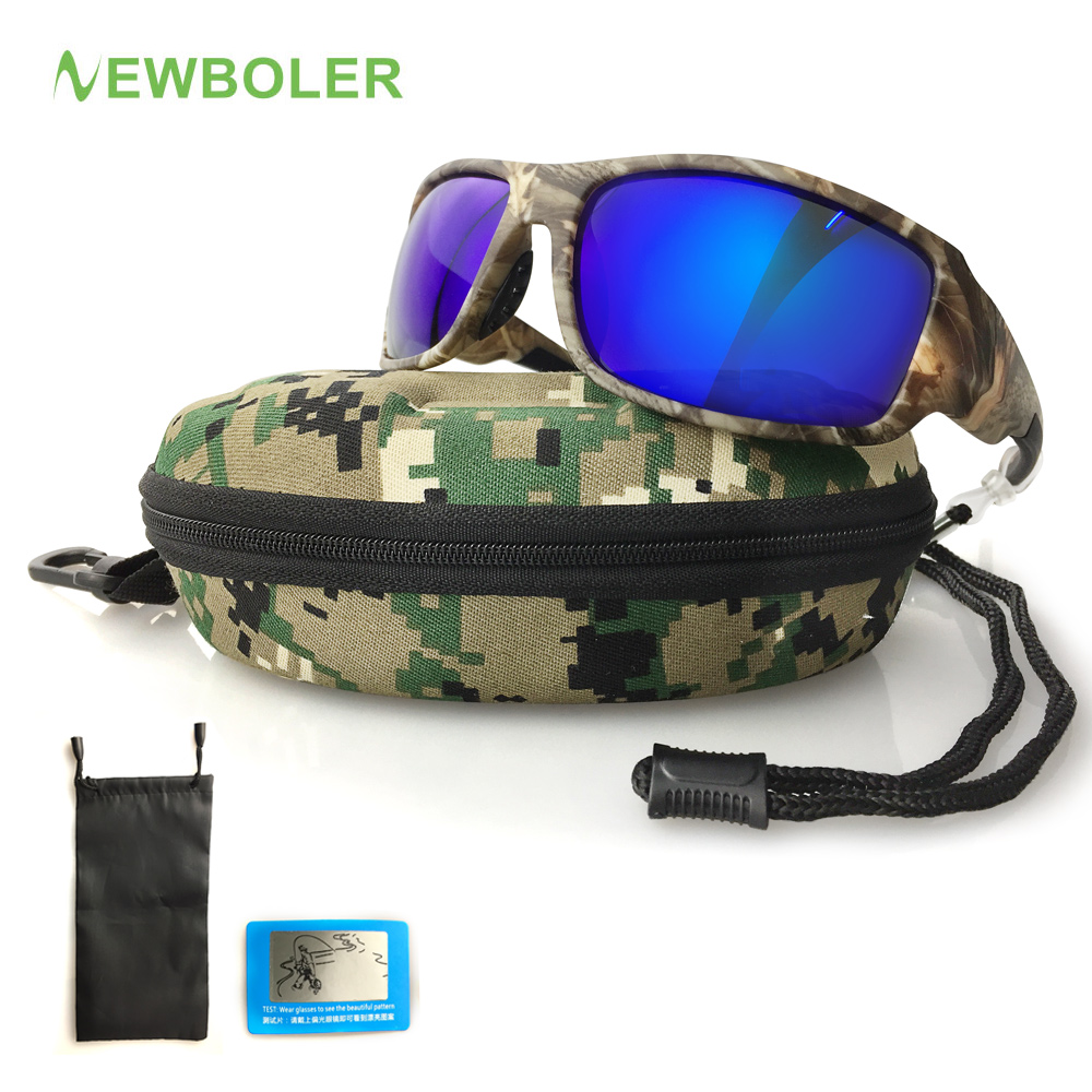 NEWBOLER Fishing Eyewear Camouflage Polarized Sunglasses For Men Outdoor Sports Goggles Hiking Driving Sun Glasses UV400 Oculos