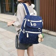 4Pcs/set Women Canvas Backpack