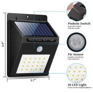Image 3 - ร้อนพลังงานแสงอาทิตย์แผง LED Flood Security พลังงานแสงอาทิตย์ PIR Motion Sensor ไฟ Led เส้นทางโคมไฟฉุกเฉินกลางแจ้งกันน้ำ lam