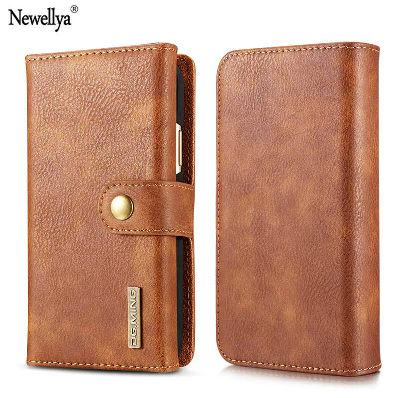 Newellya For Apple iphone X Case Luxury 5.8 Inch 3 layers Plain PU Leather Flip Wallet Cover Phone Bag Cases...  iphone x cases 3 layers Newellya For Apple font b iphone b font font b X b font font b Case