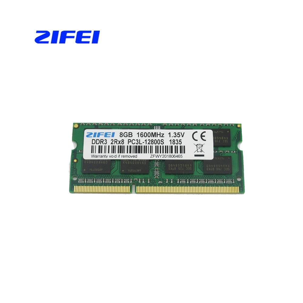 ZIFEI DDR3L 8GB 4GB 2GB 1600 1333 MHZ 1 35V Laptop sdram so dimm Memory ram