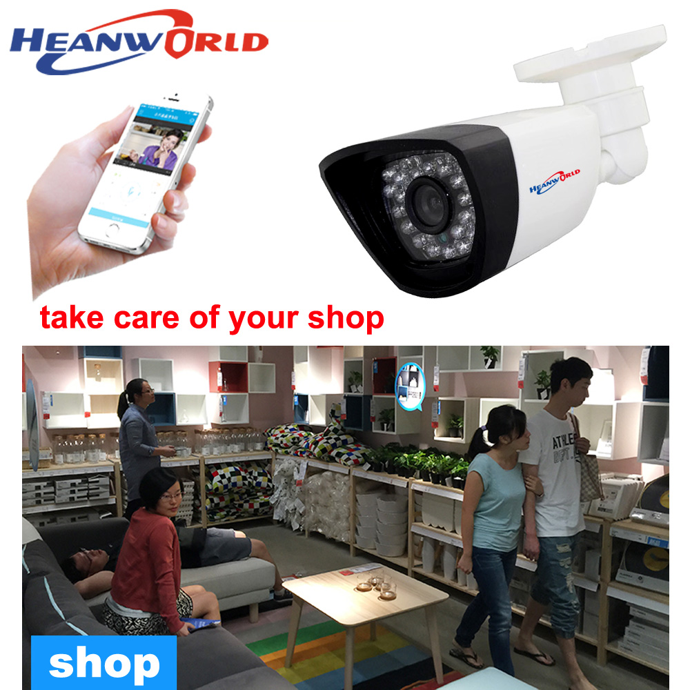 Surveillance Cameras Video Surveillance Heanworld Waterproof Ir Bullet Ip Camera 720p Security Ip Cam Support P2p Onvif Mobile Phone Monitoring Outdoor With Bracket