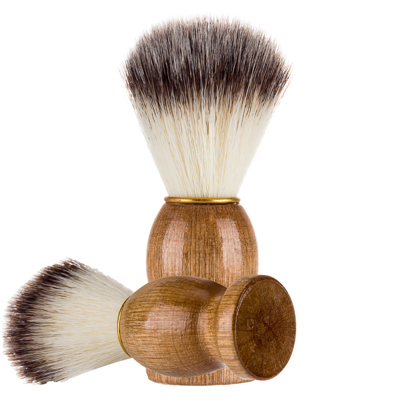 Image 4 - Badger Hair Men's Shaving Beard Brush Salon Men Facial Beard Cleaning Appliance Shave Tool Razor Brush With Wood Handle For Men-in Shaving Brush from Beauty & Health
