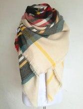 za Winter 2017 Tartan Scarf Plaid Scarf New Designer Unisex Acrylic Basic Shawls Women s Scarves