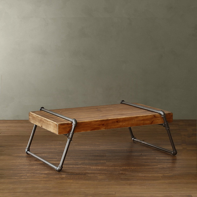 European Minimalist Retro Mining Iron Wood Furniture Small