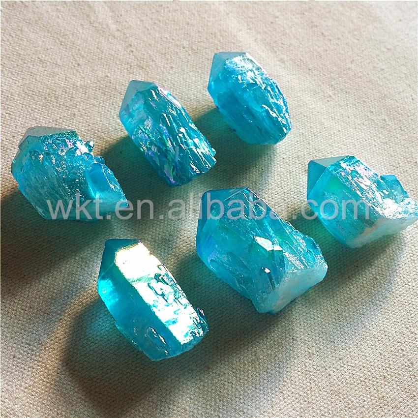 WT-G217 Gros Naturel lâche raw cristal quartz stone point, Aqua Aura véritable cristal quartz stone point pour la conception de bijoux - 2