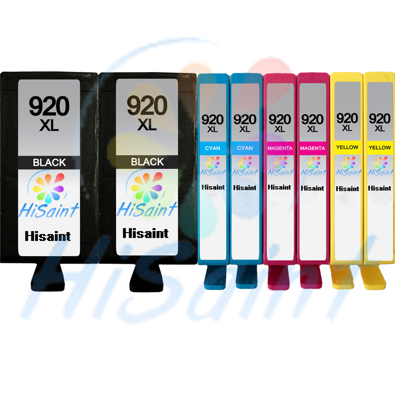 ФОТО Free shipping 2016 New [Hisaint] 8-Pk 920XL 2B/2C/2M/2Y Ink Cartridges for HP Series W/New Chip  New listing