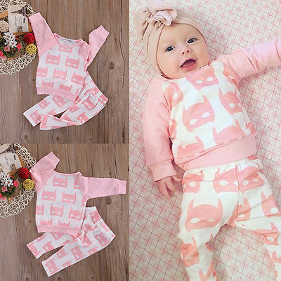 002e86f09afa girl Cloth Set 2017 Autumn New Fashion Baby Kids Girls Boys Batman ...
