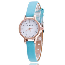 HUANS Female Models Fashion Thin Belt Rhinestone Belt Watch Women Quartz Watches Relogio Feminino reloj pulsera de cuero Z510
