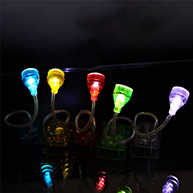 Random Color Mini LED Clip on Reading Light Adjustable Light Head Book Reading Light Bright LED Reading Lights Lamp