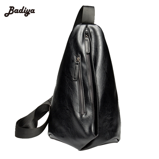 Fashion Crossbody Bags Men s PU Leather Chest Bags For Men Waterproof Sling  Cross Body Bags Shoulder Bags Back Pack 916cecb3d7f34
