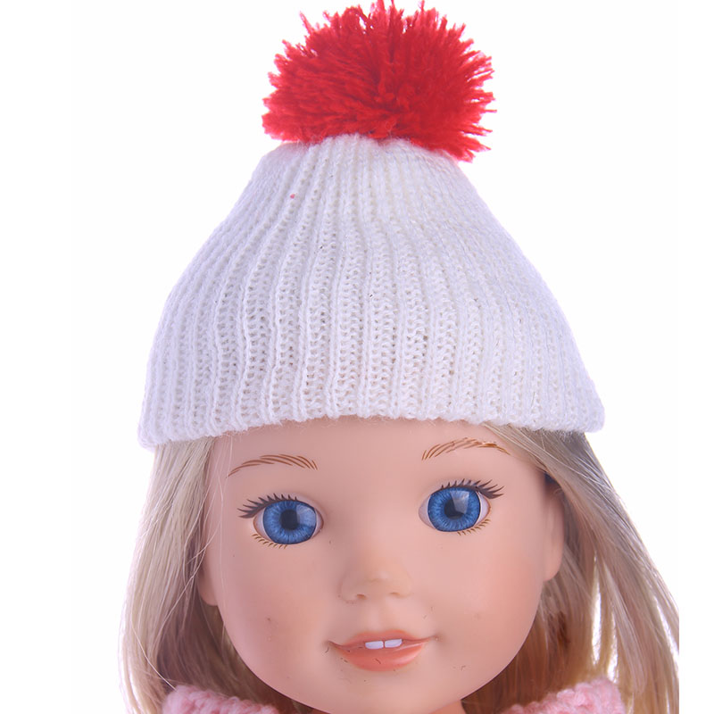 4 Styles High Quality Handmade Woolen Hat Fit For 14.5 Inch Wellie Wisher Doll,Doll Accessories(Only Sell Hats)