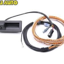 Камера с ручкой багажника заднего вида с линейным наведением линейный провод жгута для Audi NEW A4 A5 B9 8W Q7 4M 3V0 827 566L