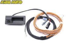 Rear View Trunk handle Camera with Highline Guidance Line Wiring harness For Audi NEW A4 A5 B9 8W Q7 4M  3V0 827 566L