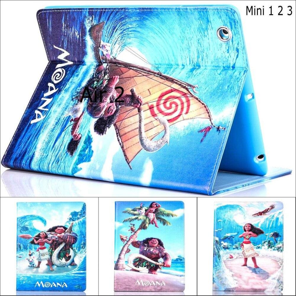 Модные фильма Моана Croods ocean искусственная кожа Стенд держатель чехол для Apple ipad mini 2 ipad mini 3 mini
