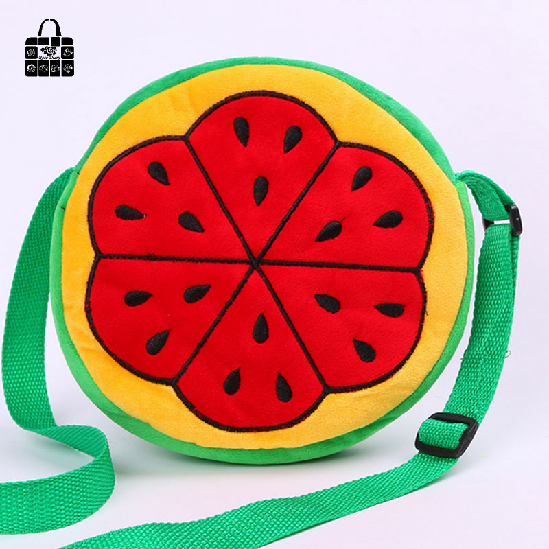 ROSEDIARY large capacity Cartoon fruitsingle Children shoulder bag zipper  Bag Inclined kids Messenger bag for kindergarten girls