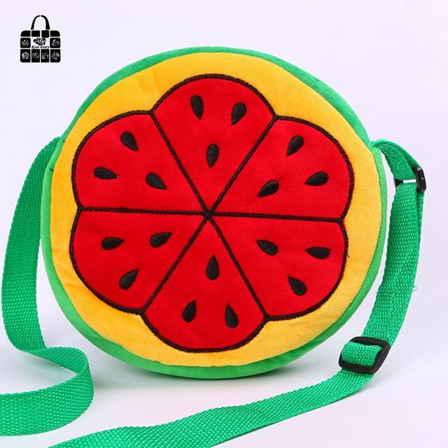 ROSEDIARY large capacity Cartoon fruitsingle Children shoulder bag zipper  Bag Inclined kids Messenger bag for kindergarten girls