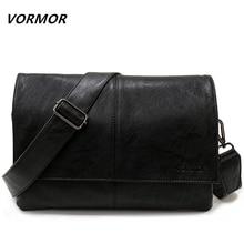 Vormor брендовая Повседневная конверт сумки мужские кожаные Плечо Сумка Через Плечо Деловая сумка-портфель мужские сумки через плечо