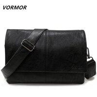 VORMOR Brand Casual Envelope Handbag Bags Men S Leather Shoulder Crossbody Bag Business Satchel Men Messenger