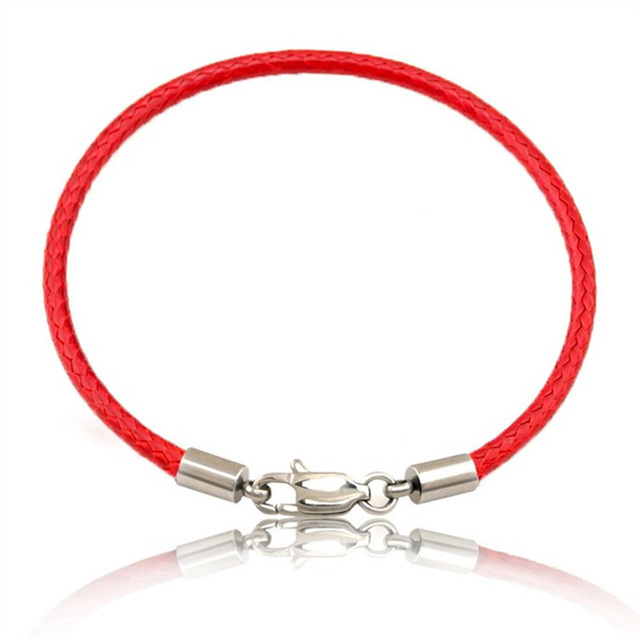Very best Fashion Classic Rope Leather Black Bracelet Red Thread Line  EV81