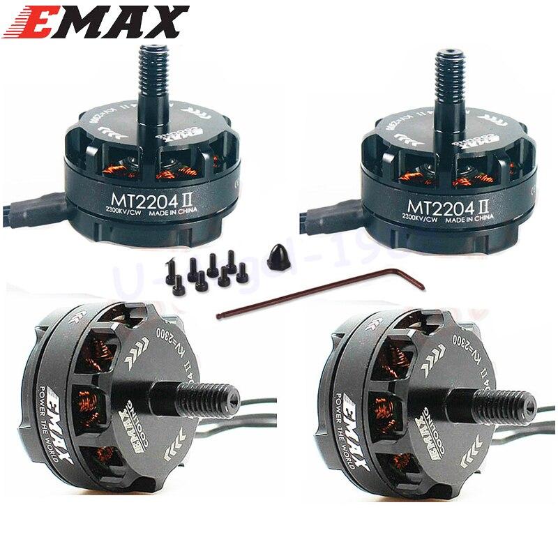 4 zestaw/partia Emax MT2204 II 2300KV chłodzenia bezszczotkowy silnik 2 4 S dla mały quadcopter QAV250 QAV250 TL250H TL280C w Części i akcesoria od Zabawki i hobby na  Grupa 1