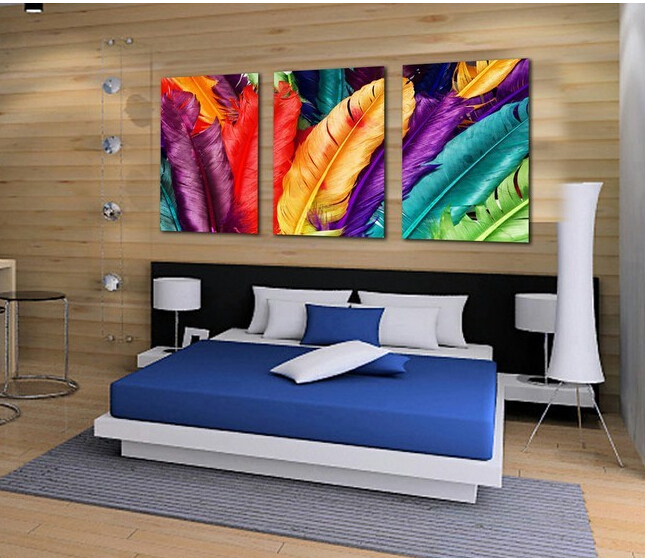 Modern house wall decorative pictures fresh look color for Fresh look painting