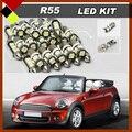 Auto Carro Nenhum Erro Lâmpadas LED SMD Kit Pacote Interior luzes Brancas De Isolamento Fácil Para 2004-2011 Mini Cooper Countryman R55 R56
