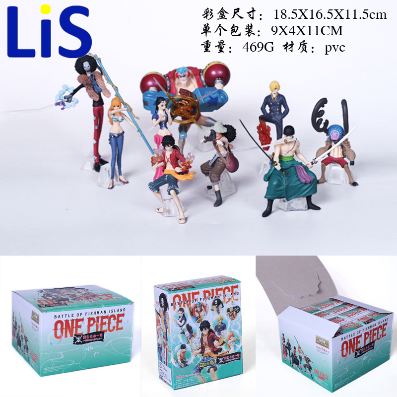 Lis 9Pcs/Set Anime One Piece Mini Luffy Roronoa Zoro Sanji Chopper Franky Nami Figure Toys PVC Dolls Christmas Gift in box