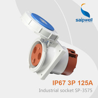 Saipwell cee electrical ip67 Waterproof Plug And Socket with 3 pin industrial socket 125a SP 3575 High Quality
