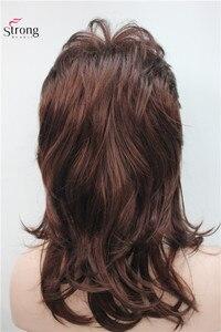 Image 5 - Peruca longa de camadas com ombro escuro, peruca clássica sintética completa escolhas coloridas