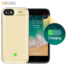 Vrurc Battery Charger Case For iPhone 6 7 8 Plus Battery Power Bank Case For iPhone 7 8 Battery Case Mobile Phone Powerbank Case