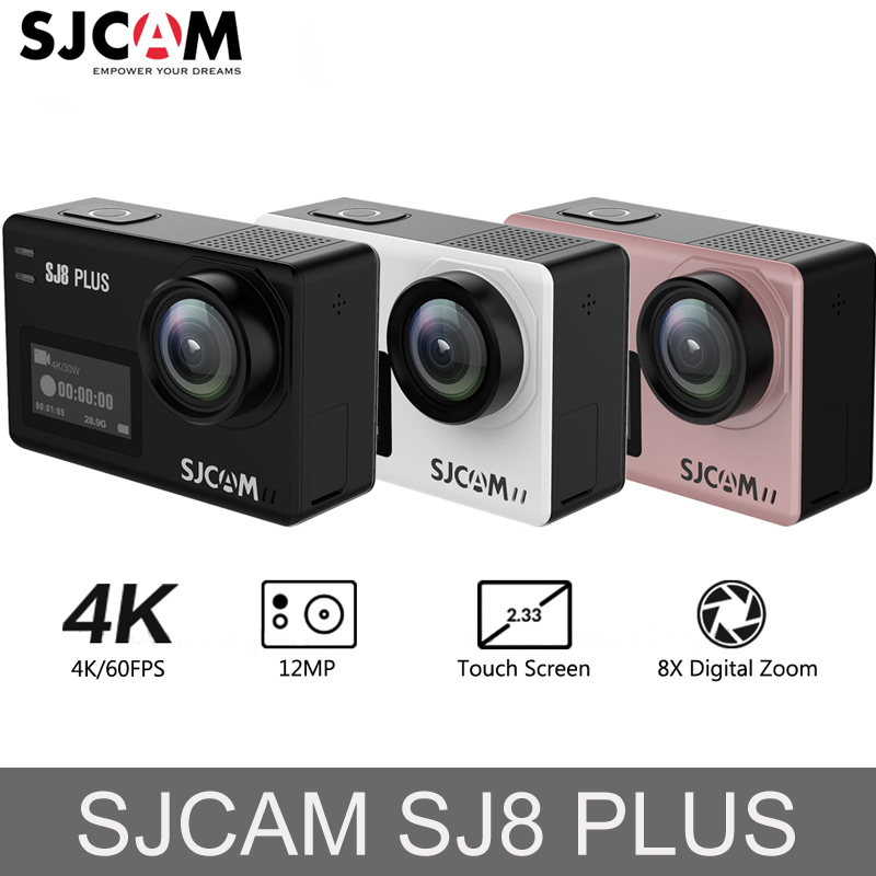 Original SJCAM SJ8 Plus Action Camera 4K 1200mAh Waterproof Sport Action Camera WiFi Remote Video Camera HD DVR Car Camera f88 action camera red
