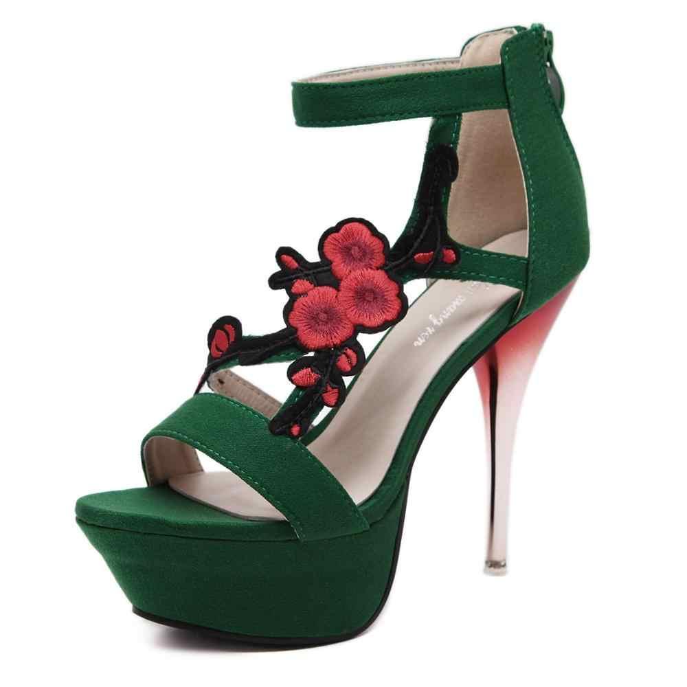 Giày nữ 2019 thời trang mới gợi cảm Hoang Dã cổ Đế dép Xăng đan nữ cao cấp gót mũi giày