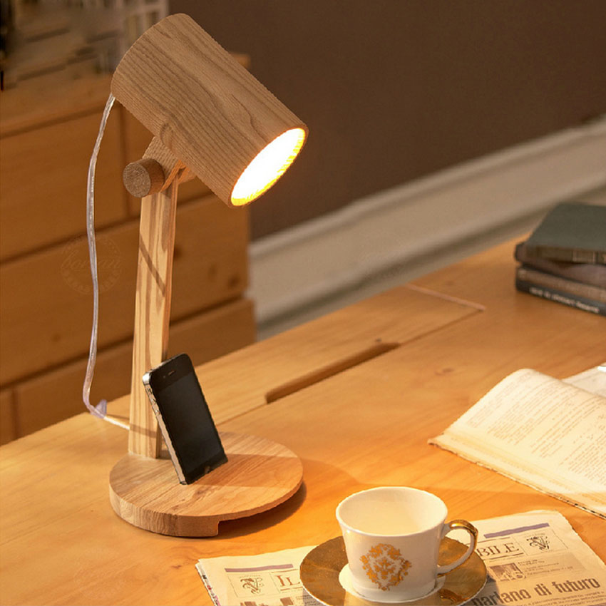 Desk lamp of bedroom the head of a bed warm woodiness lamps and lanterns of study of the sitting room american study desk lamp of bedroom the head of a bed european style living room hh creative fashion retro robot reading lamp