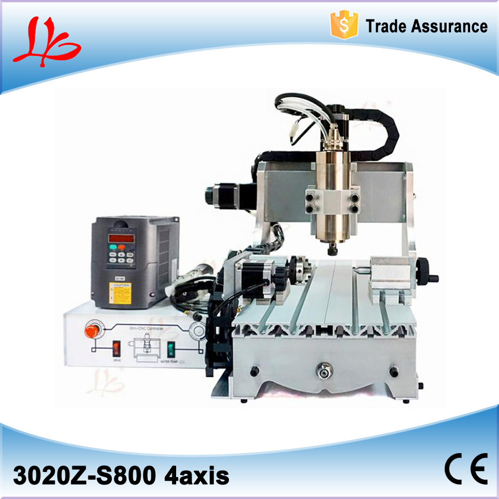 3020Z-S800 4 axis cnc router with 800W spindle  ball screw mini cnc milling machine for metal wood 500w mini cnc router usb port 4 axis cnc engraving machine with ball screw for wood metal