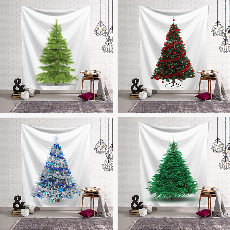 Cool Christmas Tree.Us 6 43 8 Off Fashion Cool Chic Christmas Tree Colored Printed Witchcraft Decorative Hippie Mandala Macrame Bohemian Wall Hanging Tapestry In