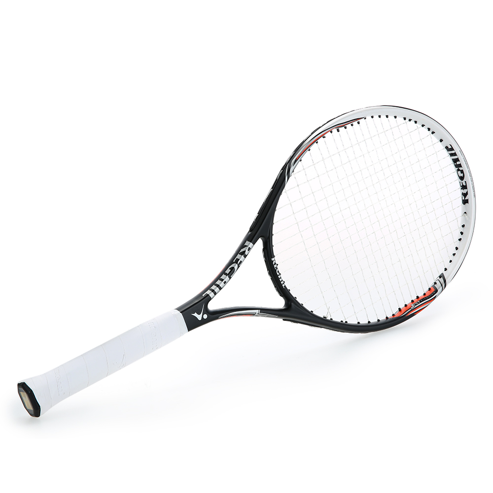 High Quality 1Pc New Carbon Tennis Racket Indoor Outdoor Practice Training Tennis Racquet Training Sport Rackets With Cover Bag in Tennis Rackets from Sports Entertainment