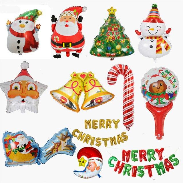Свадебная Рождественская елка Санта Клаус Снеговик колокольчик сани фольги Воздушные шары Рождественский дом надувные декорации для вечеринки воздушный шар Детская Подарочная игрушка