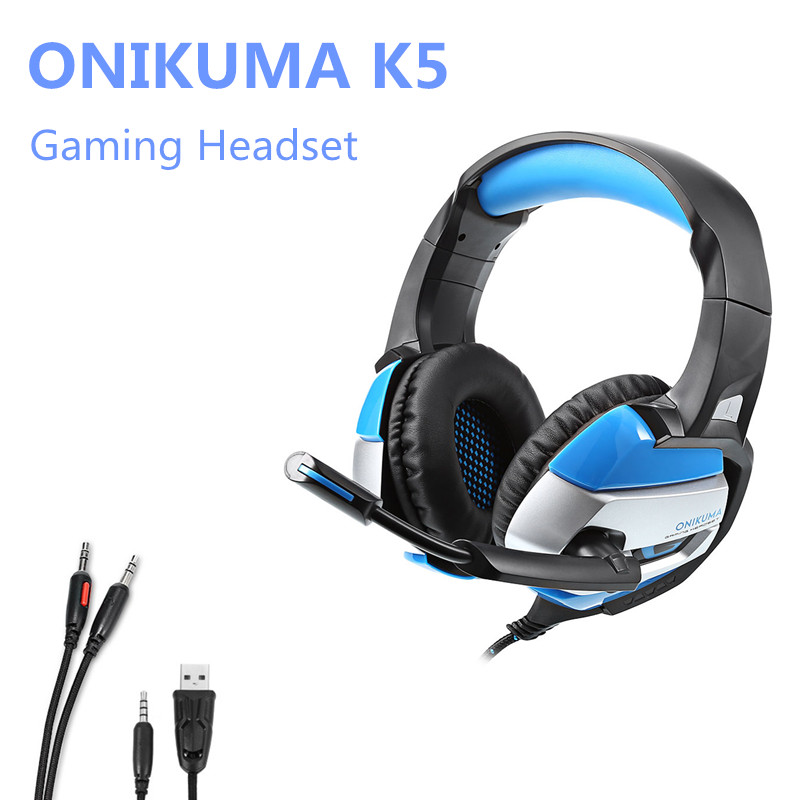 ONIKUMA K5 Stereo Gaming Headset Deep Bass Gaming Over-ear Headphones with Microphone for Computer Game 3 5mm universal gaming over ear headset earphones computer game headphones with microphone for gamer stereo bass for computer pc