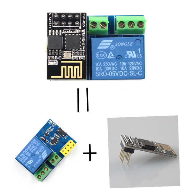 ESP8266 ESP-01S Relay Module Remote Switch Phone APP DIY Project Design Kit