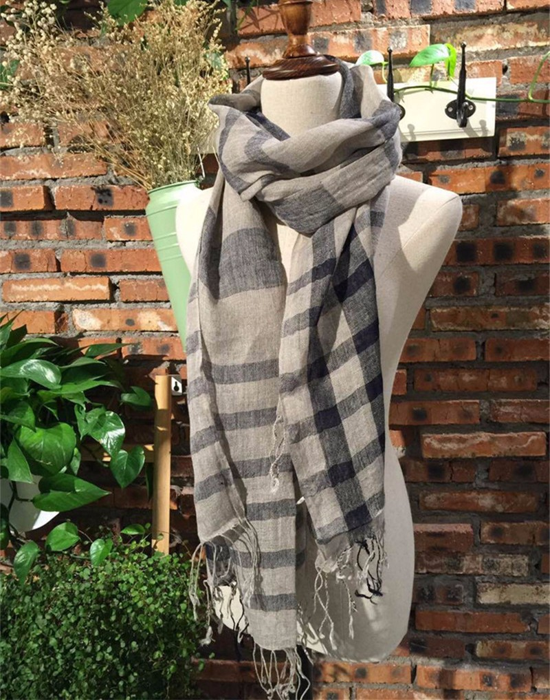 linen plaid scarf (3)
