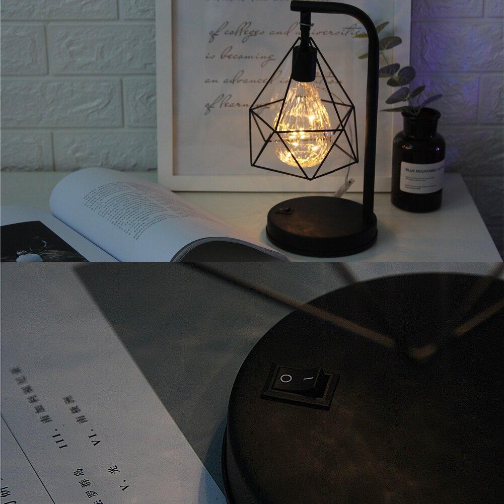 Decorative Iron Cage Desk Lamp
