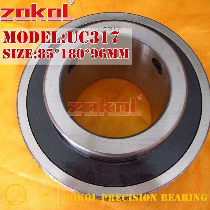 ZOKOL bearing UC317 90617 Pillow Block Ball Bearing 85*180*96mm zokol bearing uc209 suc209 90509 stainless steel pillow block ball bearing 45 85 49 2mm