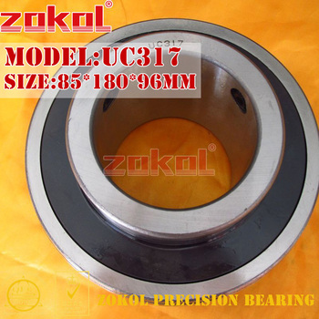 ZOKOL bearing UC317 90617 Pillow Block Ball Bearing 85*180*96mm