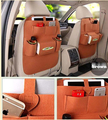 Frete grátis 2 pcs auto poggiatesta custodia multi bolso de armazenamento tidy viagem saco marrom ipad telefone
