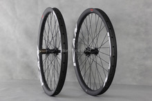 ICANBikes 26ER down hill carbon wheelset clincher/tubeless ready carbon wheels 26er DH hookless